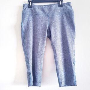 MPG 3/4 Length Gray Leggings Small